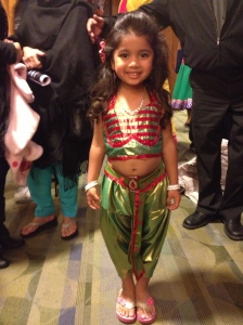 MKC kids are too cute, especially in Heena's cavity-inducing costume choices.